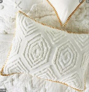 NWT Pair of Anthropologie Tufted Cidra Embroidered Shams