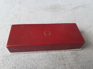 Vintage Red Genuine Omega Watch Box Swiss Made