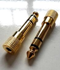 Kopfhörer Adapter 3,5mm > 6,35mm Stereo Miniklinke Klinke Kopfhöreradapter s43g