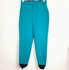 Roffe Schoeller of Switzerland Size 12 Womens Stirrup Snow Ski Pants Aqua A15-12