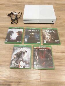 Microsoft Xbox One S 1TB Console - White w/ 5 Games Excellent Condition