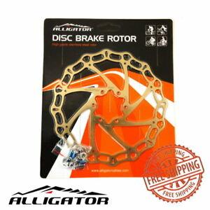 Alligator Crown Disc Brake Rotors 160mm/180mm/203mm MTB Road Bike Ti-Gold Color