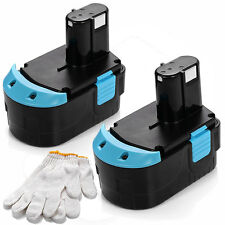 2x 18V 18 VOLT 2.0Ah Battery for HITACHI EB1820L EB1820 EB1812S C 18DL EB1814SL