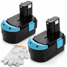 2x 18V 18 VOLT 2.0Ah Battery for HITACHI EB1820L EB1820 EB1812S C 18DL EB1814SL