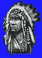 Aufnäher Patch Indianer Häuptling USA Cowboy Biker Trucker Jacke Kutte Western