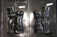 Wedding 3-D Bride & Groom Precious Moments Chocolate Plastic Candy Mold  W-41A,B
