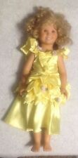 "Shirley Temple By Danbury Mint 1993 18"" Inch Doll - Hard Plastic Pose-able Nice!"