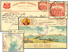 PERU 4¢ PSC S LORENZO BRIDGE JAN 1914-NICARAGUA Moll 64