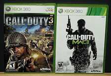 CALL of DUTY 3 & CALL of DUTY MW3 ( XBOX 360 ) 2 Games Read Description NTSC-U/C