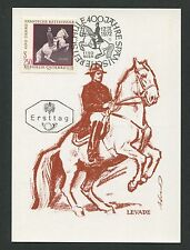 AUSTRIA MK 1972 REITSCHULE DRESSUR PFERD HORSE CARTE MAXIMUM CARD MC CM d1359