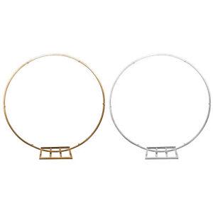 Metallic Circle Hoop Backdrop Stand, 60-Inch