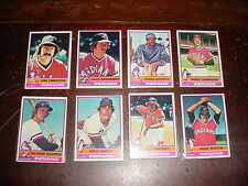 Cleveland Indians 1976 Topps Baseball 26 cards Buddy Bell Dennis Eckersley