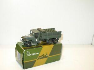 Solido Truck GMC Tanker Jerricans Road Ball Express Military Cab. Tarpaulin