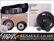 Genuine RENAULT 1.6 16V Dephaser Pulley + Timing Belt Kit * Express Delivery *