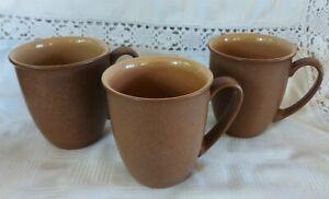 Set of 3 Denby Cinnamon Mugs