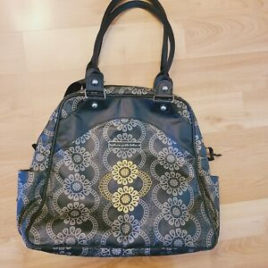 Petunia Pickle Bottom Diaper Bag Backpack Green, Black, Gold Embroidered