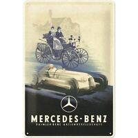 Mercedes Daimler Benz Silberpfeil Nostalgie Blechschild 30 cm shield