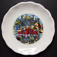 Vintage Las Vegas Decorative Collectible Souvenir Plate 3 1/4""
