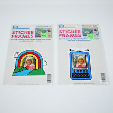 Lot of 2 Sticker Frames Stickers VTG '83 Freelance Made In USA Rainbow Wal-Mart
