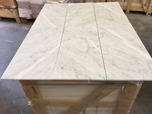 Marble Tiles, Italian Bianco Carrara Honed 305x610mm Limestone Travertine