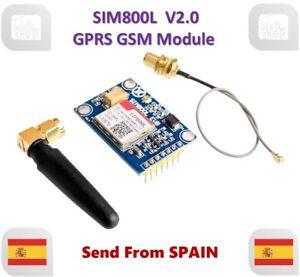 SIM800L V2.0 5V Wireless Gsm Gprs Modulo Quad-Band With Antenna Cavo Cap