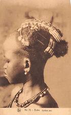 BURKINO FASO, AFRICA, BOBO NATIVE WOMAN WITH COIFFURE & JEWELRY c. 1910-1920's