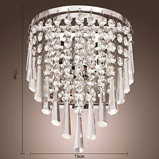 Home Crystal Wall Sconce Lamp Pendant Light Fixture Lighting Chandelier LED Bed