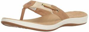 Sperry Top-Sider Women's Sandal Brown Seabrook Surf Thong Metallic 7 9.5 11 NIB