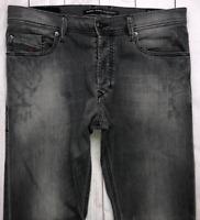 Mens DIESEL Tepphar Jeans W32 L30 Grey Slim Carrot Wash 0674U_STRETCH