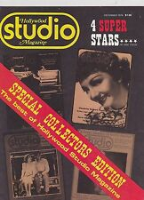 DEC 1974 HOLLYWOOD STUDIO vintage movie magazine - CLAUDETTE COLBERT