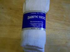 DIABETIC CREW SOCKS 36 PAIR WHITE SIZE 10-13   MADE IN U.S.A. CASUAL WHITES