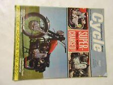 AUGUST 1965 CYCLE MAGAZINE.SUPERCHARGED NORTON 750,HONDA 450,BSA 650,WHITE 250