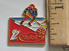 Hockey Pin , 1992 Yoplait Sonsor Skating Pin, Olympics ? (#25)