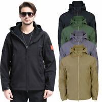 Hot Waterproof Tactical Soft Shell Mens Jacket Coat Army Windbreaker Outdoor