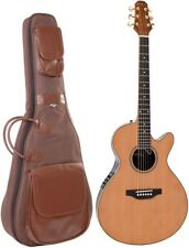 Vintage peregrino VPG900N Mayflower Electro Guitarra Acústica Natural Fishman Pickup