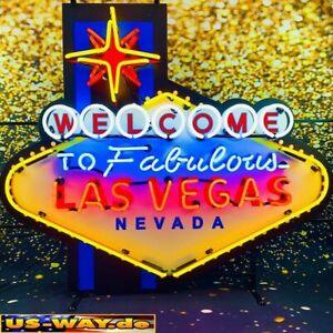 """N-0141 Neon """"Las Vegas XL"""" Schild Leuchtreklame Diner Neonreklame Vintage Retro"""