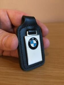 Genuine BMW Keyring Steel & Raised Enamel Leather Car Fob