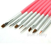 8 tlg Malerei Pinsel Set Nail Art Acryl UV Gel Pinsel Spotswirl Dotting Tool