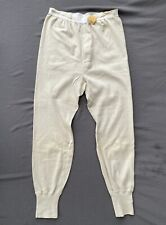Mint! M-1950 Us Army Long Underwear Drawers Large - Cotton/Wool Vintage