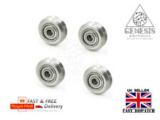 4 x Stainless steel Metal V-type wheel with or without 625ZZ Bearings
