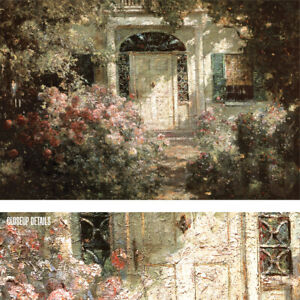 "36W""x24H"" DOORWAY AND GARDEN by ABBOTT FULLER GRAVES - FLORAL ENTRANCE CANVAS"