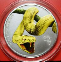 "Gabun 2000 Francs 2013  ""SNAKE"" F#3260, Colored 3 Uz/Oz COA Nur 200 Stück"