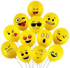"12"" Emoji Balloons Latex Ballons Birthday Party Wedding Halloween Decor BaloonUK"