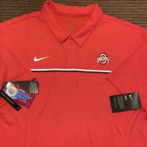 NEW Men's NIKE OHIO STATE UNIVERSITY Golf Polo Shirt Sz XXL