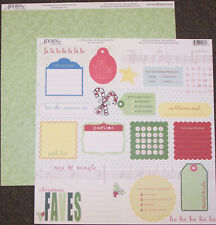 Holly Jolly Mix And Mingle 12x12 Dbl-Sided (25 Pack) Scrapbooking Paper