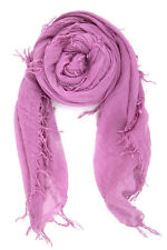 Chan Luu Soft Cashmere & Silk Scarf Wrap Shawl Solid VIOLET BRH-SC-140 LOVELY!