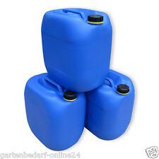 3 x 30 L blau Kanister Camping & Outdoor Plastikkanister Wasserkanister NEUWARE.