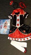 Disney Alice in Wonderland Queen of Hearts Girl Halloween Costume Medium 8-10