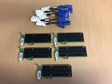 5 x NVIDIA Quadro NVS 290 Niedrige Bauform 256MB 2x VGA PCIe X1 mit Y - Kabel