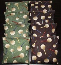 GOLF Cornhole Bean Bags Set of 8 ACA Regulation Golfer Tee Off Corn Toss Bags